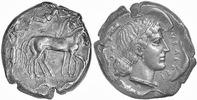 Tetradrachme 474-450 v.Chr. Sizilien,Syrakus  Fast vorzüglich  2375,00 EUR