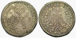 Taler 1623. Nürnberg, Stadt:  Fundbelag, gutes ss
