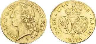 Louis d´or 1744 W. FRANKREICH Ludwig XV., ...
