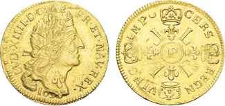 Louis d´or 1695 P. FRANKREICH, Ludwig XIV....