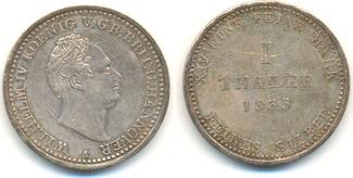 Taler 1835 A Hannover: Wilhelm IV, 1830-37...