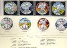 USA: Set 4 x 1 $ Eagle Four Seasons Original Box + COA