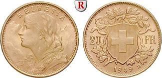 20 Franken 1897-1949 Schweiz Eidgenossensc...