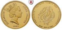 250 Dollars 1991 Cook Inseln Elizabeth II., seit 1952, Gold, 7,76 g PP,... 350,00 EUR  +  10,00 EUR shipping