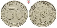 Klein- und Kursmnzen 50 Reichspfennig 50 Reichspfennig 1938, F, Ni. J.365.