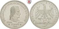 5 DM 1955 F Gedenkprägungen 5 DM 1955, F. Schiller. J.389. vz-st  445,00 EUR  +  10,00 EUR shipping
