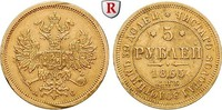 5 Rubel 1865 Russland Alexander II., 1855-1881, Gold, 6,54 g ss, Rdf., ... 1100,00 EUR  +  10,00 EUR shipping