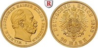 20 Mark 1888 A Preussen Wilhelm I., 1861-1888, 20 Mark 1888, A. Gold. J... 5750,00 EUR  +  10,00 EUR shipping
