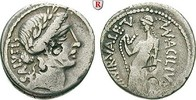 Denar 49 v.Chr.  Man. Acilius Glabrio, 49 v.Chr. ss, Bankmarken  170,00 EUR  plus 10,00 EUR verzending