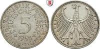 5 DM 1958 J Klein- und Kursmünzen 5 DM 1958, J. Adler. J.387. ss+  370,00 EUR  +  10,00 EUR shipping
