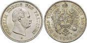 1/6 Taler 1862  A Brandenburg-Preussen Wilhelm I. 1861-1888. fast Stempelglanz