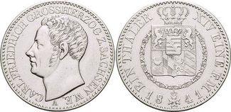 Taler 1841  A Sachsen-Weimar-Eisenach Carl...