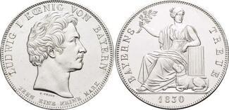 Geschichtstaler 1830 Bayern Ludwig I. 1825...