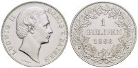 Bayern Gulden 1868 Kl.Kr.,  2 Ludwig II. 1...