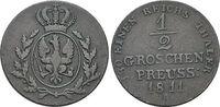 CU-1/2 Groschen 1811  A Brandenburg-Preussen Friedrich Wilhelm III. 179... 59,00 EUR  +  5,00 EUR shipping