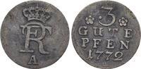 3 Gute Pfennig 1772  A Brandenburg-Preussen Friedrich II. 1740-1786, Mü... 145,00 EUR  +  5,00 EUR shipping