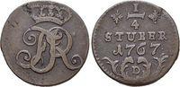 CU-1/4 Stüber 1 1767  D Brandenburg-Preussen Friedrich II. 1740-1786, M... 29,00 EUR  +  5,00 EUR shipping