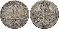 6 Kreuzer 1809 Württemberg Friedrich I. 1806-1816. Kl.Sf., sehr schön +  19,00 EUR  +  5,00 EUR shipping