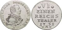 1/6 Taler 1751  A Brandenburg-Preussen Friedrich II. 1740-1786, Münzstä... 139,00 EUR  +  5,00 EUR shipping