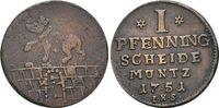 CU-1 Pfennig 1751 Anhalt-Bernburg Victor Friedrich 1721-1765. sehr schö... 15,00 EUR  +  5,00 EUR shipping