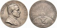 Medicina in nummis Bronze Pasteur, Louis *1822 +1895, Französischer Wissenschaftler,