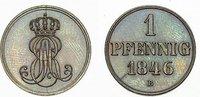 Hannover-Königreich CU-Pfennig Ernst August 1837-1851.