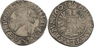 Weissgroschen 1603 RDR Böhmen Kuttenberg R...