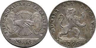 X Sols 1790 RDR Brabant Brüssel Belgischer...