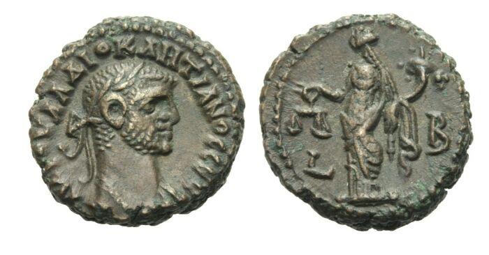 Tetradrachme 285 - 286 Ägypten/Alexandria Diocletianus, 284 - 305. VF+