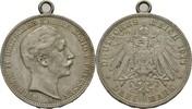3 Mark 1911 Preussen Wilhelm II., 1888-1918. am Henkel, ss  11,50 EUR  +  3,00 EUR shipping