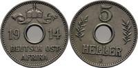 5 Heller 1914 DOA Deutsch Ostafrika  f.vz  30,00 EUR  +  3,00 EUR shipping