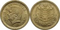 2 Francs 1945 Monaco Louis II., 1922-49 fast Stempelglanz  7,00 EUR  +  3,00 EUR shipping