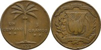 1 Centavo 1939 Dominikanische Republik  fast ss, Druckstelle  5,00 EUR  +  3,00 EUR shipping