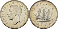 1 Dollar 1949 Kanada George VI., 1936-52 vz+ Kratzer  30,00 EUR  +  3,00 EUR shipping