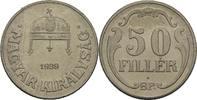 50 Filler 1939 Ungarn  unzirkuliert  45.22 US$ 40,00 EUR  +  4.52 US$ shipping