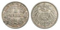 1 Mark 1911 G Kaiserreich Mzst. Karlsruhe Stempelglanz  60,00 EUR  excl. 3,00 EUR verzending