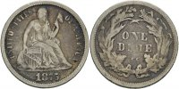 USA Carson City Dime 10 Cent 1875 ss  75,00 EUR