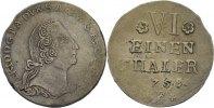 Anhalt Bernburg 1/6 Taler Victor Friedrich, 1721-1765