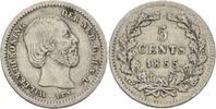5 Cents 1855 Niederlande Wilhelm III., 1849-1890 ss  10,00 EUR  +  3,00 EUR shipping