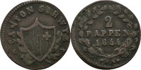 2 Rappen 1844 Schweiz Schwyz  ss  20,00 EUR