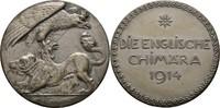 versilberte Bronzemedaille 1914 Deutsches Reich I. Weltkrieg  ss+  60,00 EUR