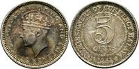 5 Cents 1941 Malaysia Georgr VI. Stgl.  15,00 EUR