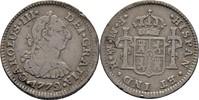 1/2 Real 1772 Spanien Mexico Carlos III., 1772-1784 Kratzer, ss  60,00 EUR  +  3,00 EUR shipping