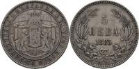5 Lewa 1885 Bulgarien Alexander I., 1879-1886 ss  45,00 EUR  +  3,00 EUR shipping