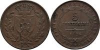 5 Centesimi 1826 Italien Sardinien Carlo Felice, 1821-1831. ss+  25,00 EUR  +  3,00 EUR shipping