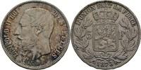 5 Francs 1873 Belgien Leopold II., 1865-1909 ss  33,00 EUR  +  3,00 EUR shipping