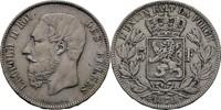 5 Francs 1870 Belgien Leopold II., 1865-1909 ss  35,00 EUR  +  3,00 EUR shipping