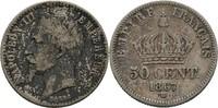 50 Centimes 1867 Frankreich Paris Napoleon III., 1852-1870. ss-  10,00 EUR  +  3,00 EUR shipping