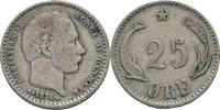 25 Öre 1874 Dänemark Christian IX. 1863-1906. ss-/ss  10,00 EUR  +  3,00 EUR shipping