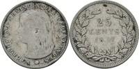 25 Cents 1897 Niederlande Wilhelmina I., 1890-1948 kl. Randschlag, fss  12,00 EUR  +  3,00 EUR shipping